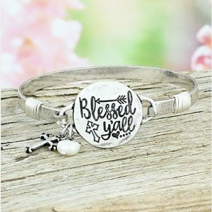 Jewelry - 'Blessed Ya'll' Silver Charm Bracelet